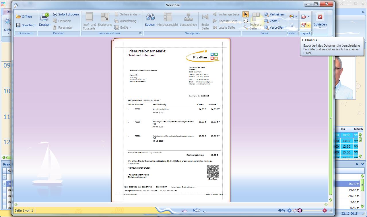 Praxplan Terminplaner Mit Rechnung Kundenverwaltung Und